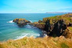 爱尔兰海岸线春天 库存照片