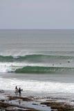 爱尔兰海浪 图库摄影