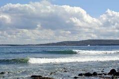 爱尔兰海滩艾伦海岛 免版税库存图片