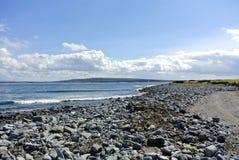 爱尔兰海滩艾伦海岛 免版税图库摄影