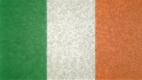 爱尔兰的旗子的原始的3D图象 向量例证