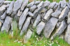 爱尔兰石墙 免版税库存照片
