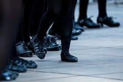 爱尔兰舞蹈家腿 免版税图库摄影