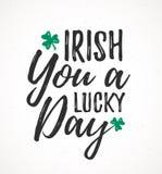 爱尔兰语您一幸运的天 库存例证