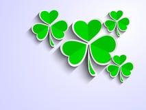 爱尔兰语留给三叶草背景 库存例证