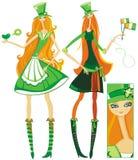 爱尔兰语的女孩 库存照片