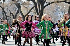 爱尔兰语的舞蹈演员一点 图库摄影