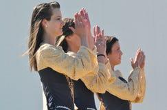 爱尔兰语的舞蹈演员 图库摄影