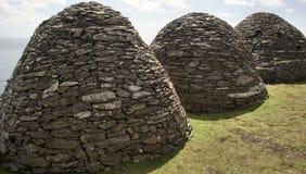 爱尔兰语蜂箱的小屋 免版税库存图片