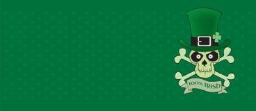 100%爱尔兰语 绿色幸运的爱尔兰头骨 图库摄影