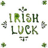 爱尔兰运气字法 圣徒Patriks天海报或卡片 库存图片