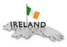 爱尔兰进贡 向量例证