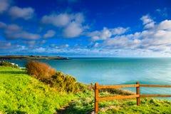 爱尔兰风景。海岸线大西洋海岸科克郡,爱尔兰 免版税库存照片