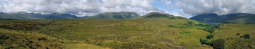 爱尔兰/Connemara panormic视图 免版税库存图片