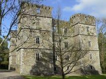 爱尔兰 Kanturk 黑色城堡棋子反映白色 免版税库存照片