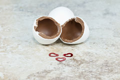 爱巧克力复活节彩蛋 库存图片