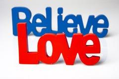 爱并且相信 免版税库存照片