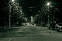 爱德华七世国王大道在夜之前 免版税图库摄影