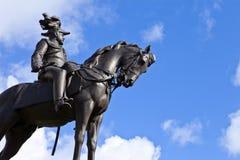 爱德华七世国王纪念碑在利物浦 图库摄影