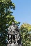 爱德华七世国王雕象特写镜头在霍巴特,澳大利亚 库存照片