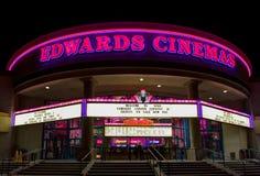 爱德华戏院外部 免版税库存图片