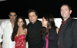 爱德华・詹姆斯・奥莫斯、雷斯罗伯特Guzman,阿那克劳迪亚Talancon和加夫列拉Tagliavini 免版税库存照片