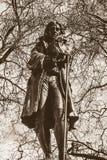 爱德华Colston雕象布里斯托尔市中心乌贼属口气的 库存图片