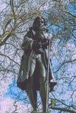 爱德华Colston雕象布里斯托尔市中心分裂定调子的 库存照片