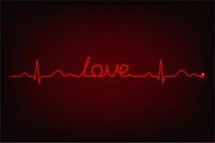 爱心电图  向量例证