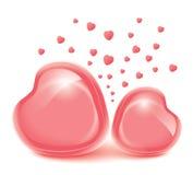 爱心脏。情人节。照片的框架 免版税库存照片