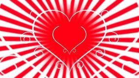 爱心脏动画 皇族释放例证