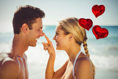爱心脏的综合图象迅速增加3d 库存图片