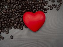 爱心脏valentine';s天横幅背景 库存图片