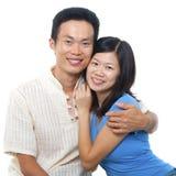 爱恋的亚洲夫妇 库存图片