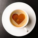 爱恋的咖啡 免版税库存图片