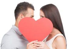 爱恋的夫妇。 库存图片