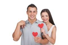 爱恋的夫妇。 免版税库存照片