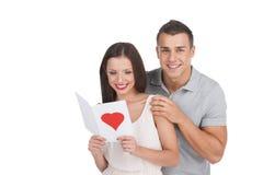 爱恋的夫妇。 免版税图库摄影