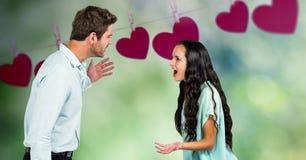 爱恋的夫妇数字式综合  库存照片