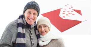 爱恋的夫妇数字式综合  免版税库存照片