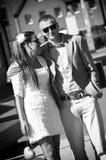 爱恋的夫妇纵向  免版税图库摄影