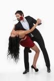 爱恋的夫妇跳舞。 库存图片