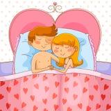 爱恋的夫妇 向量例证