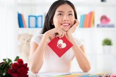 爱恋的女孩画象  免版税图库摄影