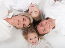爱恋的家庭圈子 库存图片