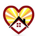 爱恋的心脏和家庭象 免版税库存照片