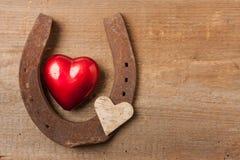 爱恋的马和骑马 免版税图库摄影
