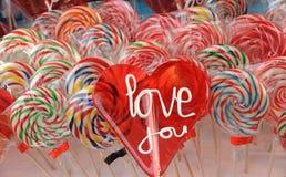 爱您棒棒糖我 库存照片