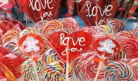 爱您棒棒糖II 免版税库存照片