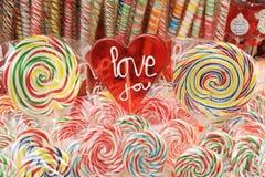 爱您棒棒糖III 免版税库存照片